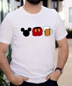 Disney mickey mouse beer shirt 8