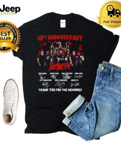 40th Anniversary Slayer thank you for the memories signatures shirt