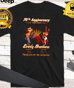 70th anniversary 1951 2021 The Everly Brothers signatures shirt