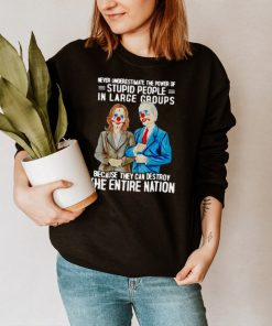 Biden Harris Never Underestimate The Power Of Stupid People In Large Groups Because They Can Destroy The Entire Nation T shirt