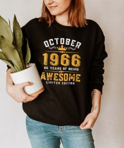 55th Birthday 55 Years Old Awesome Since October 1966 shirt