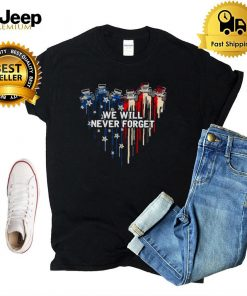 Jeeps heart we will never forget American flag shirt