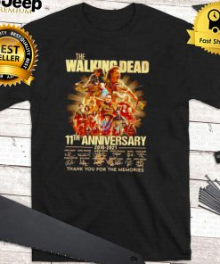 The Walking Dead 11th anniversary 2010 2021 signatures shirt