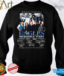 50 World tour 2021 Eagles incredible years 1971 2021 thank you for the memories signatures shirt