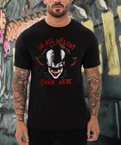 It Pennywise We All Float Down Here Halloween Clown T shirt