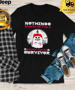 Nothings Scares Me I Am A Breast Cancer Survivor Halloween T shirt