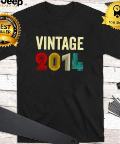 Vintage 2014 7 Years Old 7th Birthday T Shirt